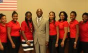 T&T Youth Ambassadors with Ambassador Estrada and mentor Antonio Baptiste